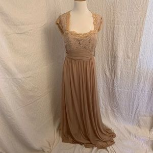NWT Gold Formal Dress  Large